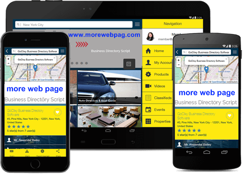 MORE WEB PAGE Mobile Application